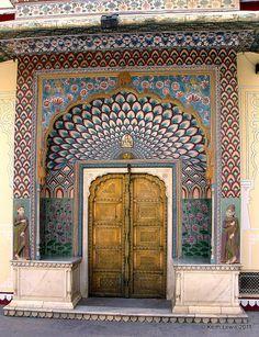 Peacock Door Chandra Mahal...Jaipur
