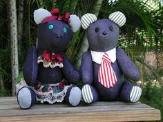 Scraps Teddy Bears Collection's Couples Handmade by rrdesigns561