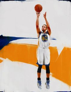 Stephen Curry 'Pure Jumper' Digital Painting