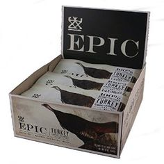 Epic All Natural Meat Bar, Natural, Turkey, Almond & Cranberry, bars 12 Count – Gourmet Gifts