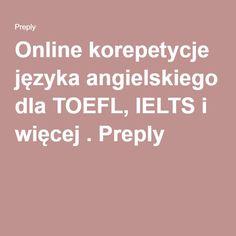 Online korepetycje języka angielskiego dla TOEFL, IELTS i więcej . Preply