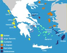 awesome Map of greece islands