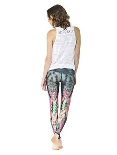 d4a0af2ec Teeki Womens Leggings or Hot Pants Extra Small Eagle Feather Green Pattern  For Sale https