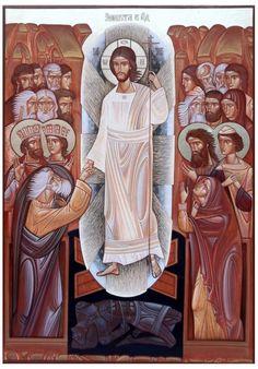 Lyuba Yatskiv Christ harrowing hell