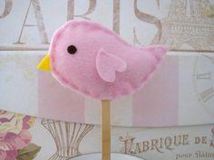 LIttle Bird Birthday Cake Topper by LollieBlossom on Etsy, $8.00