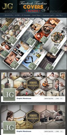 Premium and Free Facebook Timeline Cover Templates
