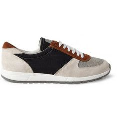 Our Legacy Runner Suede and Canvas Sneakers