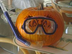 Snorkel Pumpkin not lit.