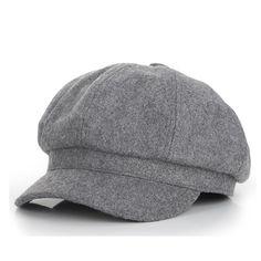 eb102252fa4a3  8.34 - Nice Vintage Fashion Wool Women s Octagonal Visors Cap Laday girl  Newsboy Virsor hat Cap
