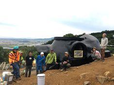 Earth bag building, Japan, Kumamoto Earth Bag, Kumamoto, Japan, Building, Bags, Handbags, Okinawa Japan, Japanese Dishes, Buildings