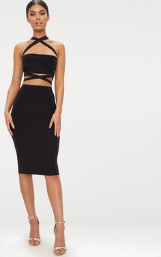 c06dab9729 The Black Slinky Midi Skirt . Head online and shop this season s range of  skirts at