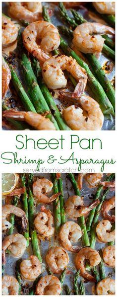 Sheet pan shrimp & asparagus.