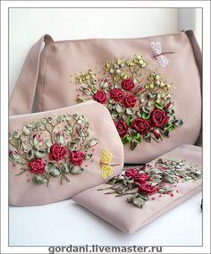 منبع روبان دوزی و دوختهای تزئینی دانا - کیف های روبان دوزی شده یکطرفه خانومmarina