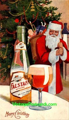 santa claus in alcohol AD's