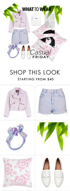 """""""FriDay"""" by dianamohmed ❤ liked on Polyvore featuring Roberto Cavalli, Topshop, Dena Home, Mansur Gavriel and Chanel"""