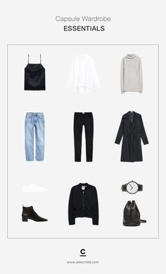 Capsule Wardrobe ESSENTIALS - Basic Wardrobe - Minimal Wardrobe - Basics every women should own. Build a strong foundation of timeless pieces that can be paired with almost anything in your wardrobe @seleccted