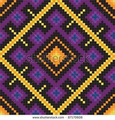 Ethnic slavic seamless pattern#11 - stock vector