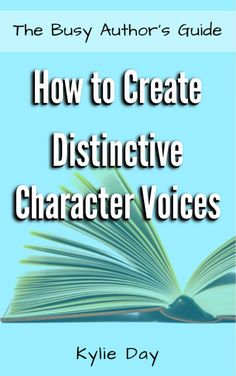 Every person has their own unique voice. Why should the characters that inhabit our stories be any different? Crafting unique voices for every one of your characters is imperative if you want them to feel real to your reader. In this book, there are instructions and questions to help you create distinct character voices that will set your characters apart from each other and make them lift from the pages to come alive in your reader's imagination. (Affiliate link)