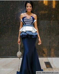 shweshwe dresses trends of 2019 - Reny styles African Traditional Wedding Dress, Traditional Dresses Designs, Traditional Wedding Attire, Traditional Outfits, Traditional Weddings, African Print Dresses, African Fashion Dresses, African Dress, African Prints