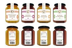 healthy honey collection packaging by THE.ENDORPHIN.COMPANY
