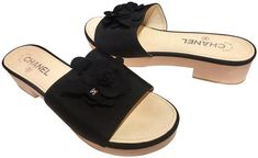 Get the must-have mules of this season! These Chanel Black Cc Camellia Grosgrain Wood Platform Slip On Sandals - Mules/Slides Size EU 40 (Approx. US Regular (M, B) are a top 10 member favorite on Tradesy. Save on yours before they're sold out! Chanel Mules, Chanel Sandals, Black Patent Leather, Suede Leather, Chanel Box, Chanel Brand, Chanel Camellia, Ankle Strap Heels, Gucci Black