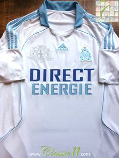 Relive Marseille's 2008/2009 season with this vintage Adidas home football shirt.