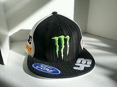 DC Shoes Monster Ken Block 43 Ford Rally Car Firelli Flat Bill Hat Cap L XL | eBay