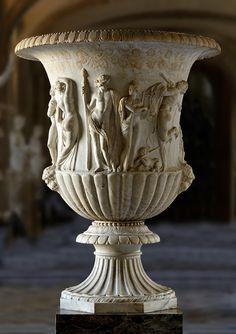Borghese Vase, Greek, 1st century BC, Pentelic marble, Louvre