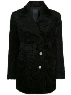 Black soft-knit peacoat from Theory featuring a v-neck, a front button fastening, a belted waist, two front pockets, long sleeves and a short length. Theory Clothing, Size Clothing, Cowboy Boots Women, Cowgirl Boots, Western Boots, Riding Boots, Timberland Style, Timberland Fashion, Fashionable Snow Boots