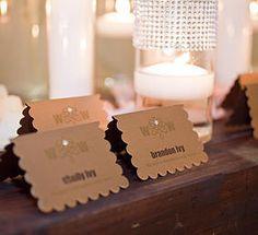 The Event Essentials :: Wedding Invitations :: Wedding Paper | WEDDING WIRE EVENT escort cards