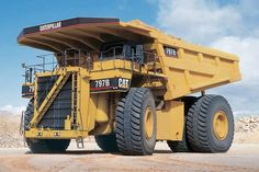 One of the biggest dumps available, would love to drive this!Caterpillar 797B