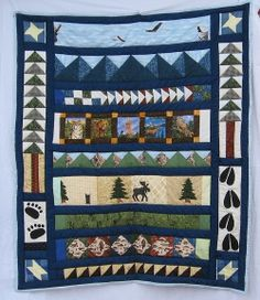 HAND MADE Wildlife Quilt - custom order made by M.S. Spotten