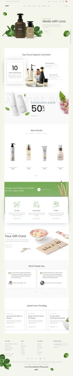 Yez is clean, stylish and modern design 12+ responsive WooCommerce WordPress #theme for #cosmetics shop #eCommerce website to live preview & download click on image or Visit   #webdevelopment