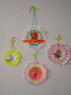 Inspiration: doily craft from One Bunting Away.