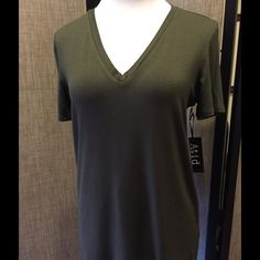 Atid. BF Tee Beautiful olive color, soft, oversize tee.  So perfect, it belongs in every closet.  Wear it with chinos, jeans, even a skirt.  Dress it up with jewelry, a pretty belt, or a scarf.  Looks great on its own or under a blazer.  It's waiting for your special touch! Atid Clothing Tops Tees - Short Sleeve