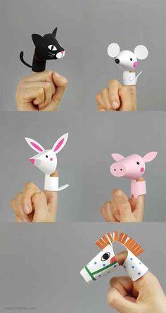 free printable finger puppets農場動物手指玩偶 - 拼學趣