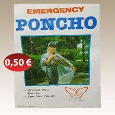 Αδιάβροχο σε διάφορα χρώματα ΚΥΡΙΑΚ. 0,50 €-Ευρω Hooded Poncho, Hoods, Cover, Cowls, Food