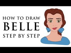 HOW TO DRAW DISNEY PRINCESS CHARACTERS FOR BEGINNERS - BELLE - EASY - http://beauty.positivelifemagazine.com/how-to-draw-disney-princess-characters-for-beginners-belle-easy/ http://img.youtube.com/vi/EA9oOdVarOU/0.jpg