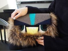 Hey, I found this really awesome Etsy listing at https://www.etsy.com/listing/255163522/monster-fur-clutch-bag-fur-bag-gray