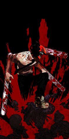 Volume 1 cover OLED edit - ChainsawMan Manga Anime, Manga Art, Anime Guys, Anime Art, Scary Characters, Anime Characters, Lagann Gurren, Character Art, Character Design