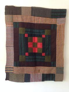Antique Welsh Patchwork Cot Quilt | eBay