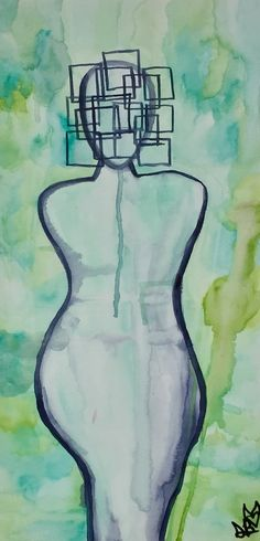Original Abstract Figurative Painting -  Watercolor Painting - Small Painting - Home Decor - Office Decor - Poetry Art By Artist Sierra Barnes #artist #artwork #paintings #abstractpainting #abstractart #artforsale #homedecor #officedecor #interiordesign #figurativeart #figurepainting #watercolorpainting #dallastexas #dallasart #dallasartist #artistsierrabarnes #rockdivaart
