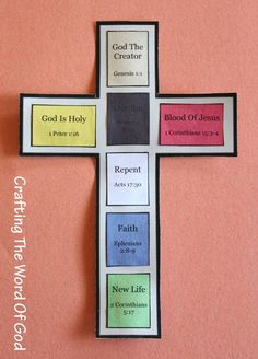This craft makes use of colors to help children understand the gospel message. The color association makes it easy for children to remember each part of the gospel. Brown– God As The Creator Yellow…similar to the wordless book Bible Story Crafts, Bible School Crafts, Bible Crafts For Kids, Bible Lessons For Kids, Sunday School Activities, Bible Activities, Sunday School Lessons, Sunday School Crafts, Wordless Book
