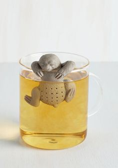 $14.99 You Snooze, You Brew Tea Infuser by Fred - Grey, Critters, Woodland Creature, Good