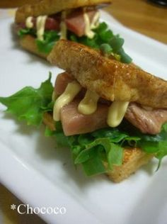 「マグロのきつねバーガー」chococo | お菓子・パンのレシピや作り方【corecle*コレクル】