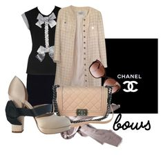 """""""Chanel"""" by elisabetta-negro ❤ liked on Polyvore featuring Chanel and bows"""