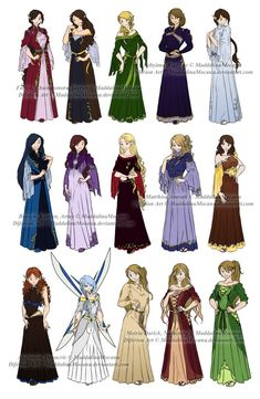 Dress n Clothes Designs: P3 - Different Kin Women by MaddalinaMocanu on DeviantArt