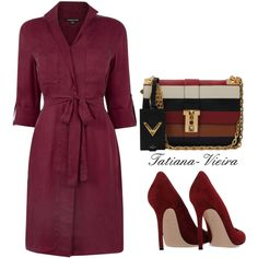 15 by tatiana-vieira on Polyvore featuring moda, Warehouse, Gianvito Rossi and Valentino