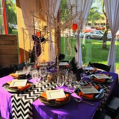 Halloween table display
