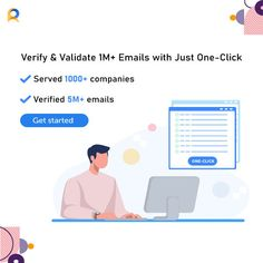 The email verifier is quick, easy to use and instant to provide real-time results. Verify more than emails from your database today. Email Id, Free Email, Email Validation, Email Providers, Online Security, Used Tools, Verify, Email Marketing